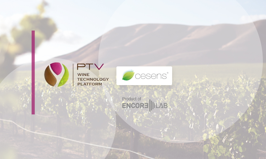 Encore Lab – Cesens® gets associated with the wine technology platform