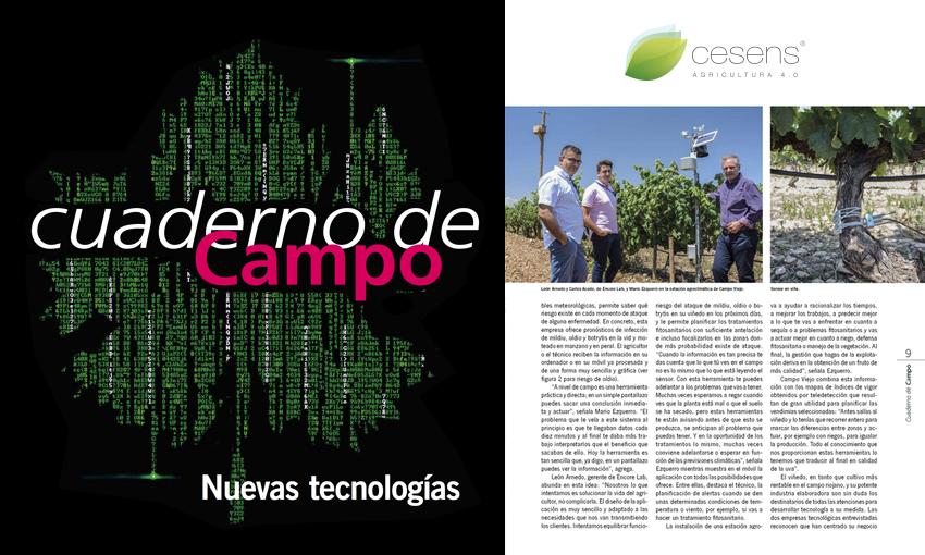 "Cesens® in the magazine ""Cuaderno de campo"""